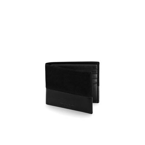Aspinal of London Men's Shadow Billfold Wallet - Black
