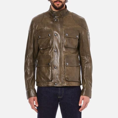 Belstaff Men's Burgess Leather Jacket - Acid Brown