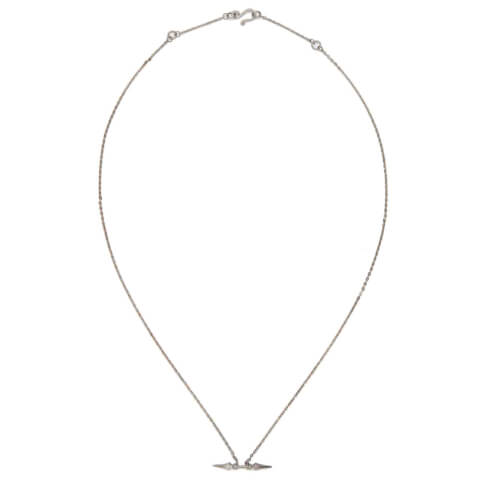 Line & Jo Women's Miss Namia Sterling Silver Spike Necklace - Grey