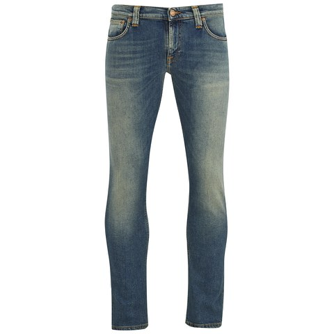 Nudie Jeans Men's Tight Long John Slim Jeans - Pacific Blue