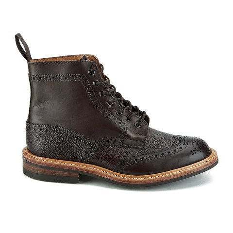 Knutsford by Tricker's Men's Stow Leather Brogue Boots - Dark Brown