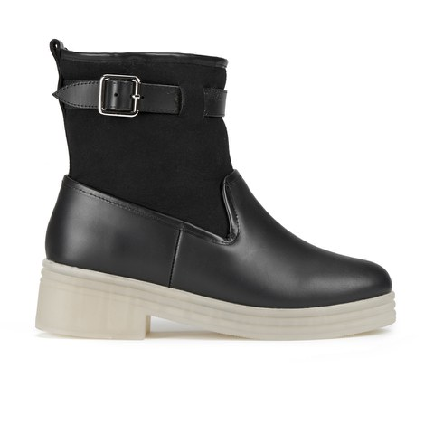 F-Troupe Women's Leather/Sheepskin Lined Hunting Boots - Black