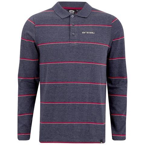 Animal Men's Legacy Long Sleeve Polo Shirt - Indigo Blue Marl
