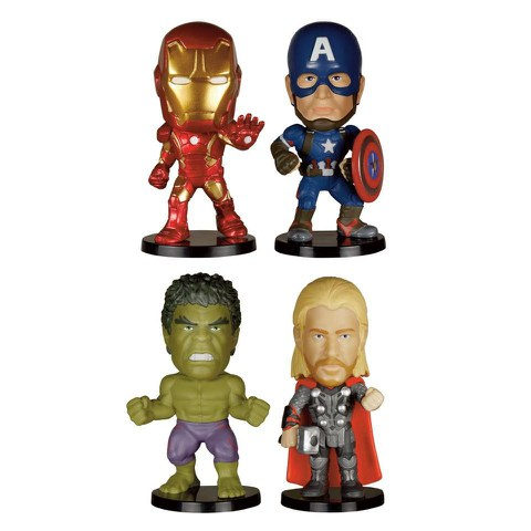 Marvel Avengers Age of Ultron Bobble Head Action Figure Set