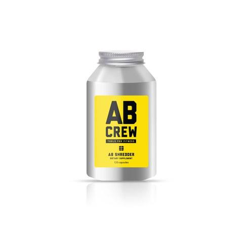 AB CREW Men's AB Shredder Supplement (120 Capsules)
