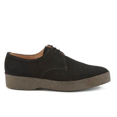 Sanders Men's Lo Top Suede Derby Shoes - Black