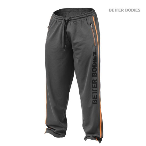 Better Bodies Classic Mesh Pants - Grey/Orange