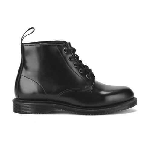 Dr. Martens Women's Emmeline Polished Smooth 5-Eye Boots - Black