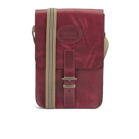 Tricker's Men's Small Leather Satchel Bag - Lollipop Red