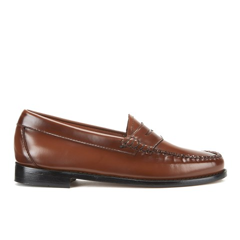 Bass Weejuns Men's Penny Leather Loafers - Mid Brown