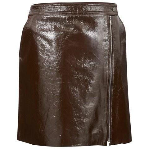 Theory Womens Berdin Skirt - Dark Cassis