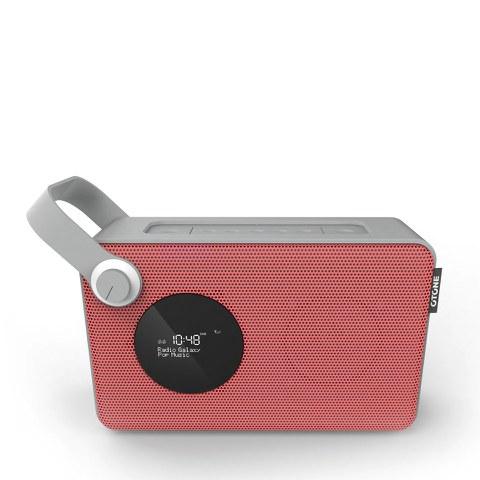 Otone BluMotion Portable Bluetooth DAB Radio - Red