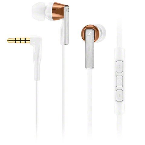 Sennheiser CX 5.00 Canal Earphones Inc In-Line Remote & Mic - White