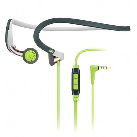 Sennheiser PMX 686G Sports Neckband Earphones Inc In-Line Remote & Mic - Green/Grey