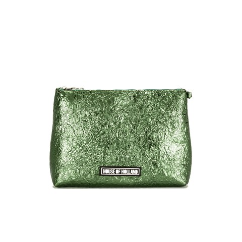 House of Holland Women's Clutch Bag with Gusset - Cucki Green