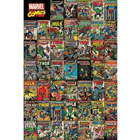 Marvel Avengers Covers - 24 x 36 Inches Maxi Poster