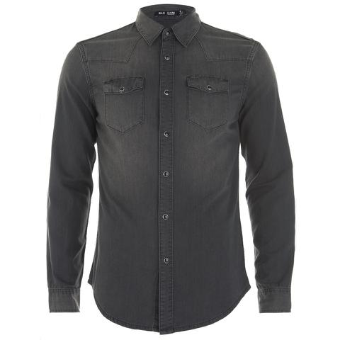 BLK DNM Men's 5 Long Sleeve Shirt - Black
