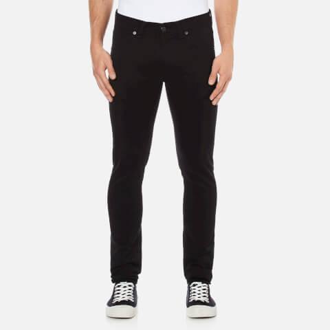 Edwin Men's ED85 Slim Tapered Low Crotch Rinsed Wash Denim Jeans - Black
