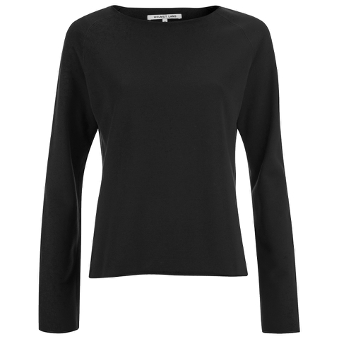 Helmut Lang Women's Raw Raglan Sweatshirt - Black