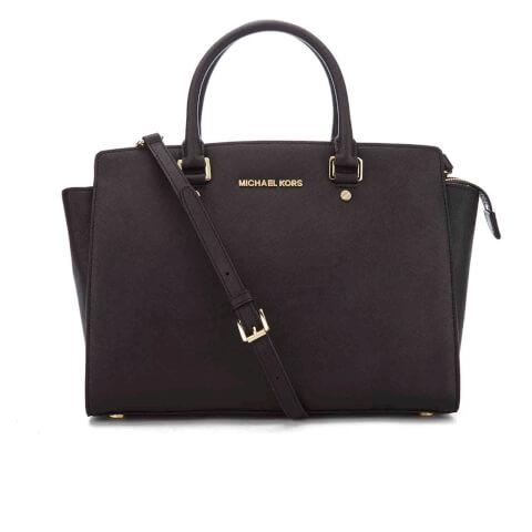 MICHAEL MICHAEL KORS Women's Selma Large Satchel Bag - Black