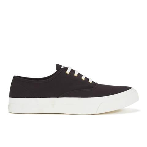 Maison Kitsuné Men's Canvas Sneakers - Black