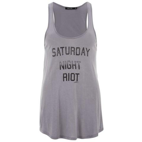 OBEY Clothing Women's Saturday Night Raglan Top - Graphite
