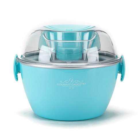 Gourmet Gadgetry Vintage Tea Party Ice Cream Maker - Blue