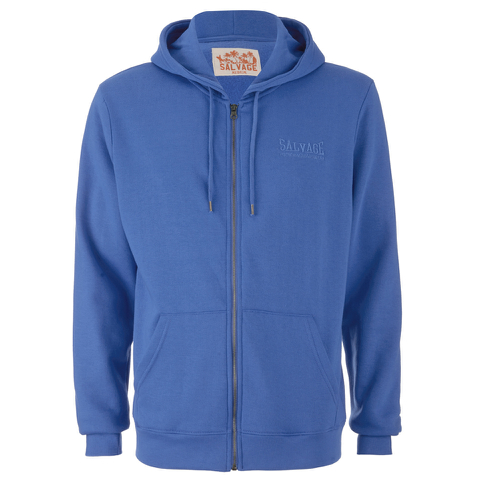 Salvage Men's Zip Through Hoody - Directors Blue