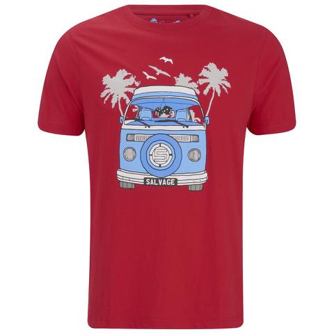 Salvage Men's Campervan T-Shirt - Red