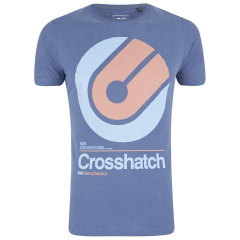 Crosshatch Men's Gazeout Print T-Shirt - Bijou Blue
