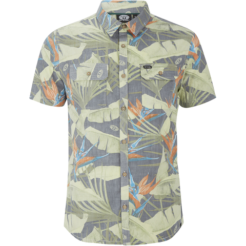 Animal Men's Parana All Over Print Short Sleeve Shirt - Green