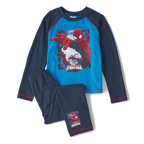 Marvel Spiderman Boy's Long Sleeve Pyjamas - Navy