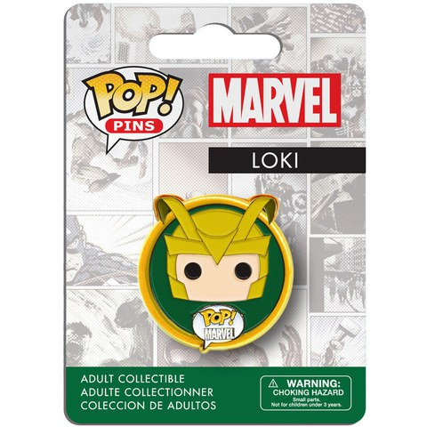 Marvel Thor Loki Pop! Pin Badge