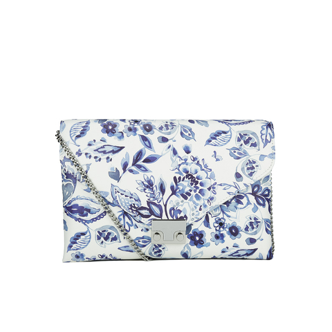 Loeffler Randall Women's Lock Clutch Bag - Porcelain Print