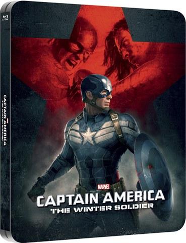 Captain America: The Winter Soldier 3D (Includes 2D Version) - Zavvi Exclusive Lenticular Edition Steelbook