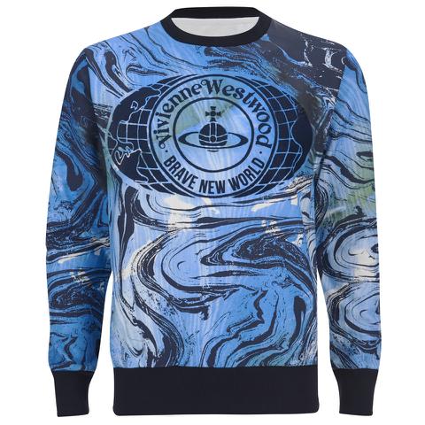Vivienne Westwood MAN Men's Marble Print Sweater - Marble Blue