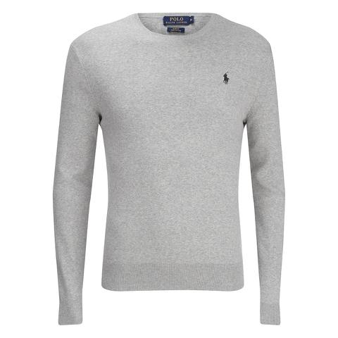 Polo Ralph Lauren Men's Crew Neck Pima Cotton Knitted Jumper - Dove Grey