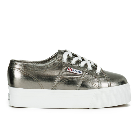 Superga Women's 2790 Cotmetw Flatform Trainers - Grey