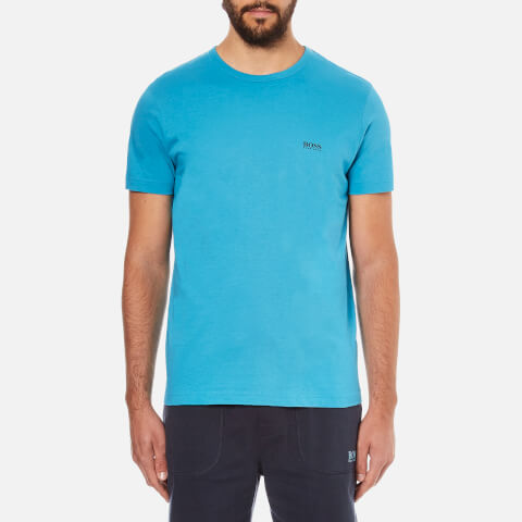 BOSS Green Men's Small Logo T-Shirt - Light Blue