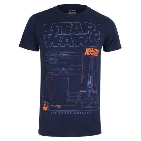 Star Wars X-Wing Schematic Herren T-Shirt - Dunkelblau