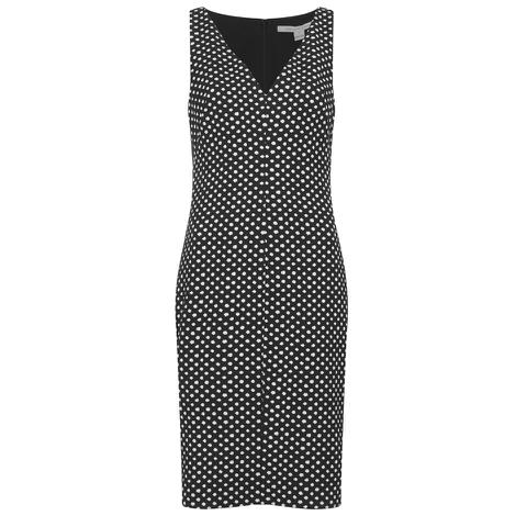 Diane von Furstenberg Women's Minetta Dress - Black/Ivory/Black