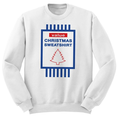 Value Christmas Sweatshirt - White