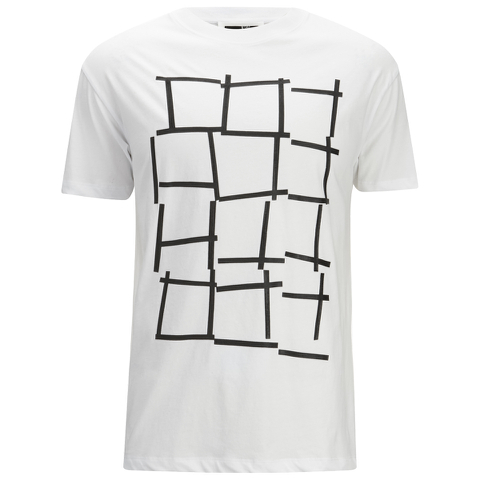 McQ Alexander McQueen Men's Dropped Shoulder Square T-Shirt - Optic White