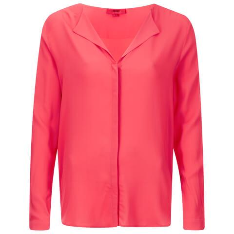 HUGO Women's Elley Blouse - Bright Pink