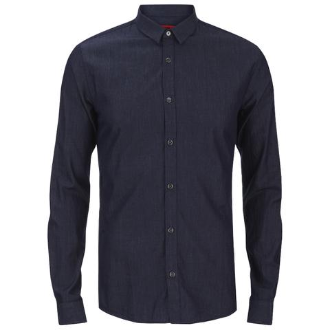 HUGO Men's Ero3 Long Sleeve Shirt - Dark Blue