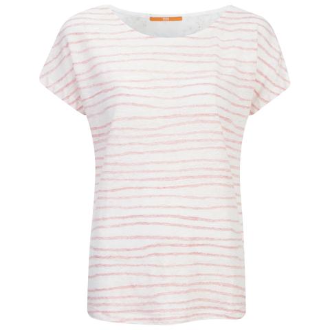 BOSS Orange Women's Tamixi Stripe T-Shirt - Orange