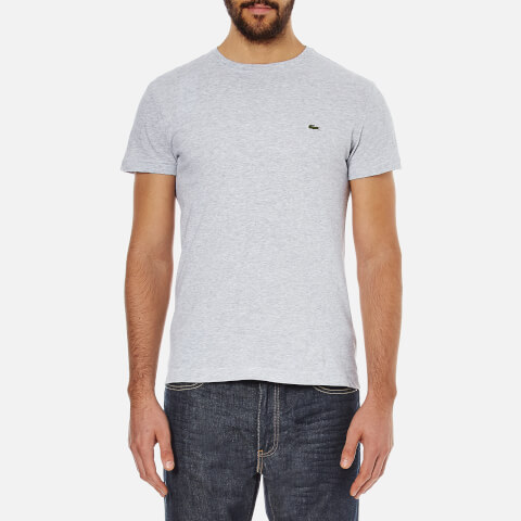 Lacoste Men's Short Sleeve Crew Neck T-Shirt - Silver Chine