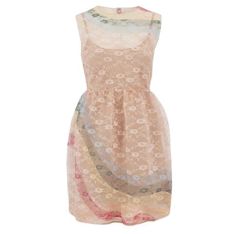 REDValentino Women's Rainbow Lace Dress - Nude