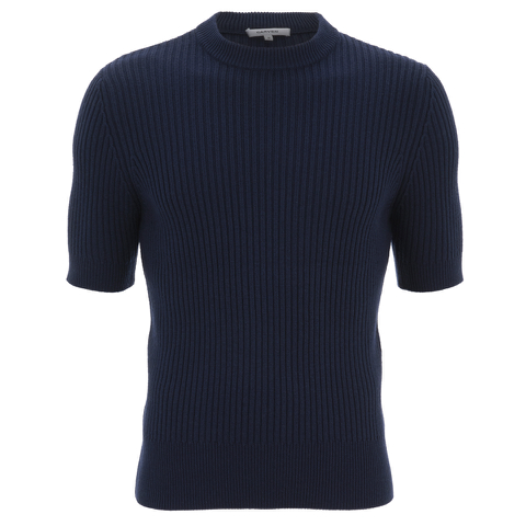 Carven Men's Short Sleeve Knit - Marine