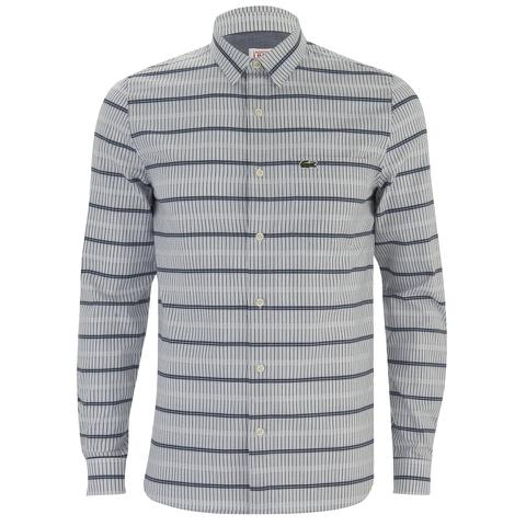 Lacoste Live Men's Patterned Long Sleeve Shirt - Grey